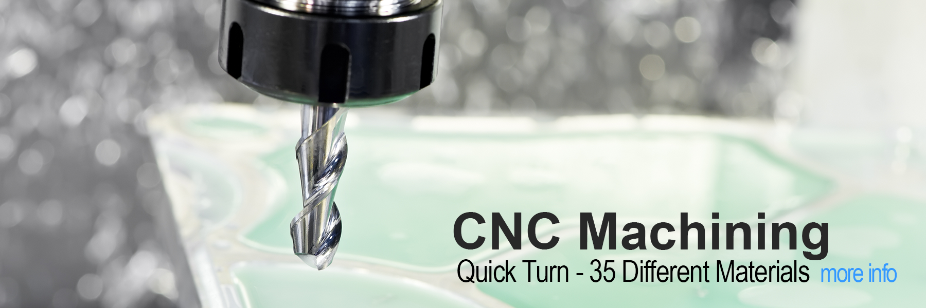 CNC Machining - Quick Turn - Large Selection of Materials
